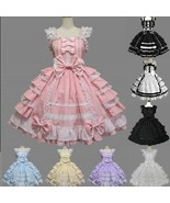 anime Costumes & Cosplay Lolita Pink chiffon princess dress Maid Cosplay... - $69.06