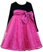 Bonnie Jean Little Girls' Spangle Tulle Dress, Fuchsia, 6 [Apparel] Bonnie Jean