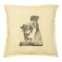 Vietsbay's Skull Day of the Dead Printed Khaki Decorative Pillows Case V... - $14.39