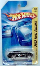 Hot Wheels 2008-008/172 First Editions 08/40 BLACK Corvette Grand Sport ... - $5.00