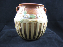 Roseville American Art Pottery Middle Period Brown Cherry Blossom Handle... - $350.88