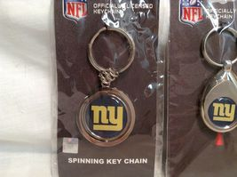 NEW NFL NY Giants Set of 5 Key Chains image 3