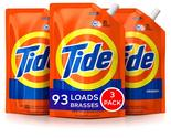Tide Liquid Laundry Detergent Smart Pouch, Original Scent, 48oz (3 Pack)