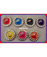 New Set 6 Poker Chip Conchos Diff Amts Make UR Day Lucky Western Rodeo G... - $34.99