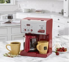 Programmable 12 Cup Coffee Maker Red Self Clean Hot Water System Beverag... - $126.49