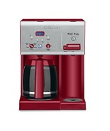 12 Cup Programmable Coffee Maker Red Self Clean Hot Water System Beverag... - $134.49