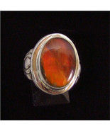 Sterling Silver Ammolite Ring 310 - $119.99