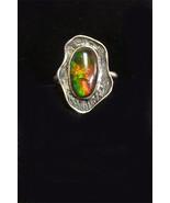 Sterling Silver Ammolite Ring   304 - $135.00