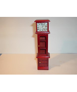 MINIATURE GRANDFATHER CLOCK with Shelves and Storage Mn105 - $19.00