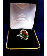 Ammolite Ring  Set in .925 Sterling  Size 7 1/2    313 - $89.99