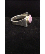 Sterling Silver Cobalto Calcite Ring with 14k Gold Bezel,   306 - $165.00