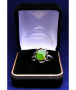 Sterling silver ring 12x10mm  Ammonite triplet   size 8   322 - $81.99