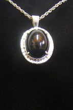 Sterling Silver Absolute Black Jade Pendant P 162 - $79.99