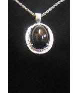 Sterling Silver Absolute Black Jade Pendant P 162 - $79.99