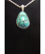 Sterling Silver Chinese Turquoise Pendant P-115 - $45.99