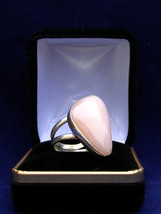 Sterling silver Pink opal ring  29X17MM SIZE 61/2     298 - $45.99