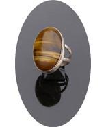 Sterling Silver Tiger Eye Ring R-50 - $59.99