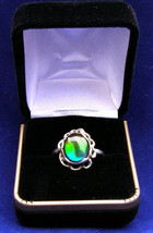 Sterling silver12x10mm Ammonite triple ring size 9    314 - $79.99