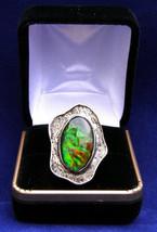 Sterling silver ring 20x12mm  Ammonite triplet      337 - $99.99