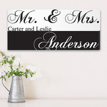 Personalized Mr. and Mrs. Couples Canvas - Newly Wed Custom Print - $67.88