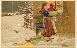 Peekin In The Window Paul Finkenrath Vintage Post Card - $10.00