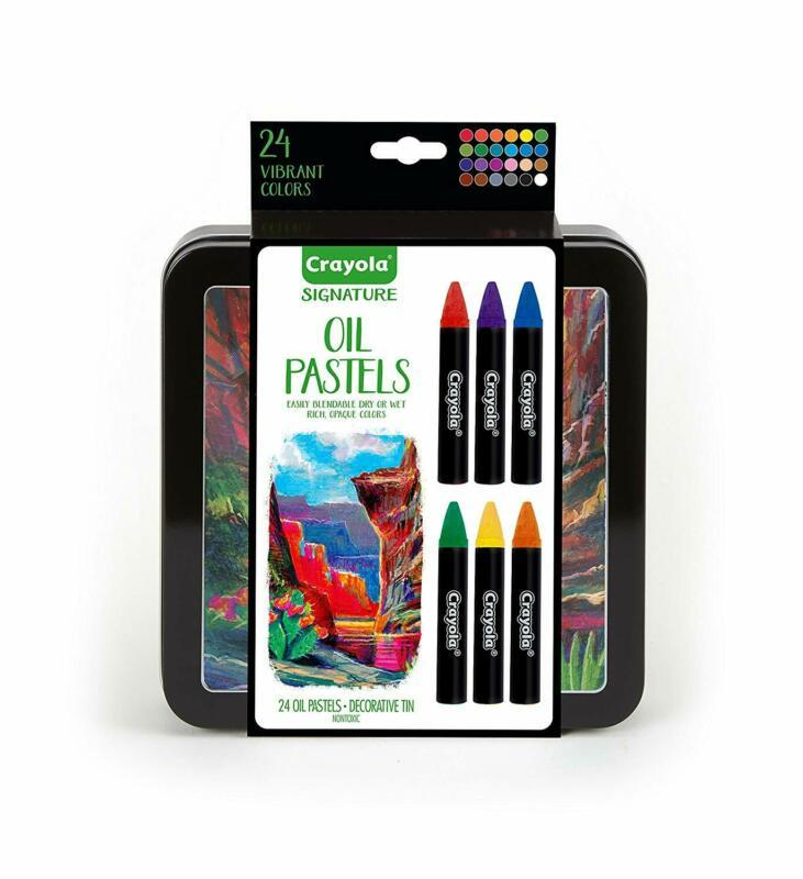Crayola Oil Pastel Set with Decorative Case, Water-Soluble, Great For Watercolor