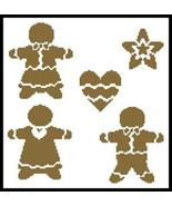 Gingerbread cross stitch chart Artecy Cross Stitch Chart - $7.20