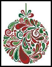 Colourful Christmas Bauble 5 cross stitch chart Artecy Cross Stitch Chart - $7.20