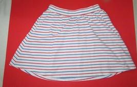 Gap Kids white red blue stripes girls cotton knit short skirt xxlarge 14... - $8.90