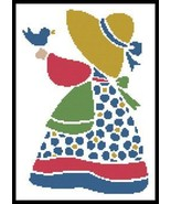 Sun Bonnet Sue 4 cross stitch chart Artecy Cross Stitch Chart - $7.20