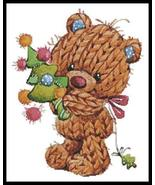Knitted Christmas Teddy cross stitch chart Artecy Cross Stitch Chart - $14.40