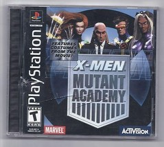 X Men Mutant Academy Video Game Sony Playstation 1 1999 Rare - $14.00
