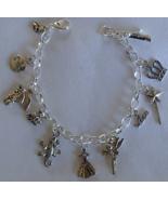 Cinderella Fairytale Theme Charm Bracelet Handcrafted  + Organza Roses G... - $16.99