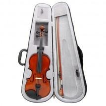 Advanced Beginner Solidwood Violin 1/2 Size Beautiful Inlaid Purfling & Varnish - $99.99