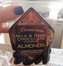 Trader Joe's Premium Milk Dark Chocolate Covered Almonds 16 Oz 1LB - $9.99