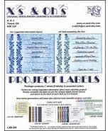 Project Labels: Lab-200 Curls cross stitch accessory X's and Oh's - $5.00