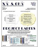 Project Labels: Lab-300 Embossed cross stitch accessory X's and Oh's - $5.00