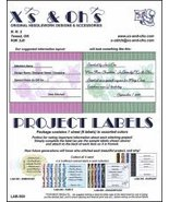 Project Labels: Lab-500 Roses cross stitch accessory X's and Oh's - $5.00