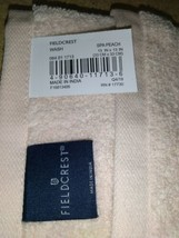 "Fieldcrest Spa Peach Washcloth 13""  xbox 13""      -       NEW---      image 2"