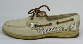 Sperry top-sider women's Sperry top sider boat shoes nude metallic size 6M - $19.97