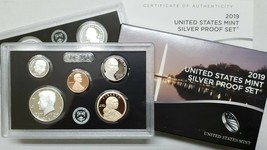 10x Sets -2019S 10 Coin SILVER Proof Set w/box & COA (NO EXTRA Lincoln 'W' CENT)