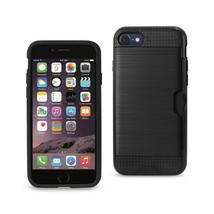 Reiko iPhone 8/ 7 Slim Armor Hybrid Case With Card Holder In Black - $7.32