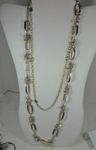White House Black Marked 2 Strand Gold Tone & Bead Necklace - $19.79
