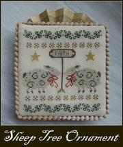 Tree Ornament Sheep cross stitch chart Niky's Creations - $11.70