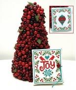 Joy Needlebook christmas cross stitch chart Tiny Modernist Inc - $8.10