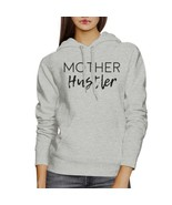 Mother Hustler Gray Unisex Graphic Hoodie Mothers Day Gift Ideas - $25.99+