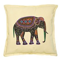 Vietsbay's Africa Tribal Elephant Printed Khaki Decorative Pillows Case ... - $14.39
