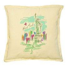 Vietsbay's New York City Printed Khaki Decorative Throw Pillows Case VPL... - $14.39