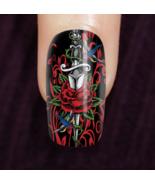 Dagger Red Roses Custom Nails - $14.99