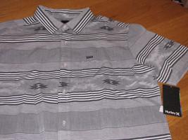 Men's Hurley short sleeve button up shirt S Parton SS Woven MVS0001010 N... - $20.62